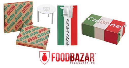 Photo des produits FoodBazar : consommables pour pizzerias